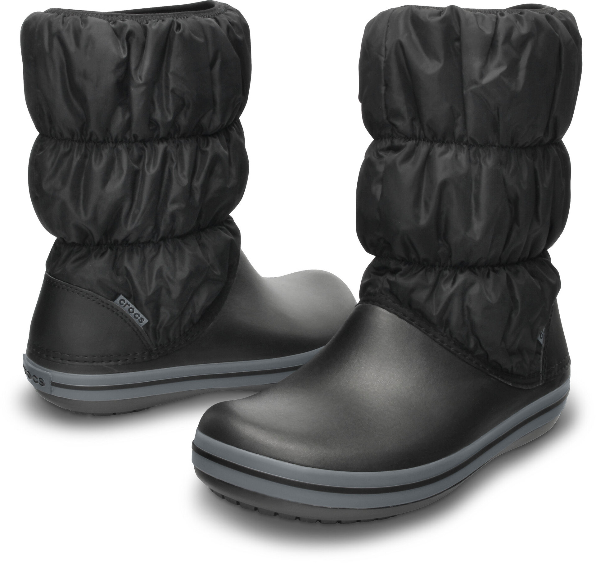 FemmeBlackcharcoal Crocs Puff FemmeBlackcharcoal Crocs Bottes Winter Winter Bottes Puff Crocs J3lcKF5uT1